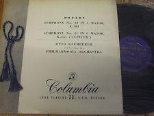 33CX 1257 Mozart Symphonies Nos. 29 & 41 'Jupiter' / Klemperer B/G