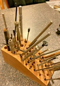 Watchmakers too lot Pinvises, Files ,Screwdriver and more with holder nice tools