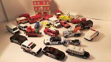 First Responders Toy Vehicles 28 item Lot police/firetrucks/Station/ambulances