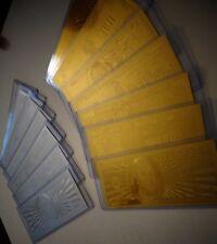 14 *GOLD &SILVER DOLLAR BILL SET $1-2-5-10-20-50-100 & EACH IN  PVC BILL HOLDER