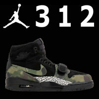 "NIKE AIR JORDAN LEGACY ""312""  ""BLACK CAMO"" GREEN ""DON C"" LIFESTYLE AV3922-003 13"