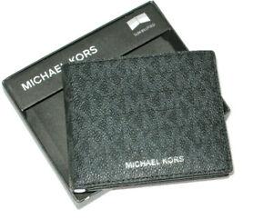 Michael Kors Jet Set Leather Wallet - Black-W/ MK Gift Box New