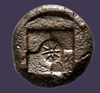 Archaios | Greek Sicily Syracuse Arethusa Incuse Star Hemilitron | AE | 15.5