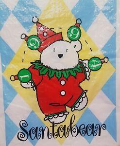 1994 BAG ONLY Jester Clown Santa Bear Santabear Bag Dayton Hudson Marshall