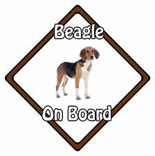 Non Personalised Dog On Board Car Safety Sign - Beagle On Board