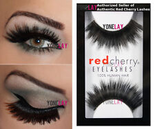 1 Pair AUTHENTIC RED CHERRY #304 Giovanna False Eyelashes Human Hair Lashes