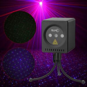 Mini RGB Disco Light LED Laser Projector Lamp Mariage Anniversaire Party DJ FR