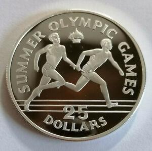 Jamaika: 25 Dollar 1988 Olympische Spiele Staffellauf, PP, A73B80