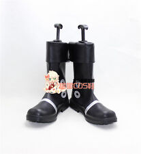 ONE PIECE Portgas D Ace Black Halloween Long Cosplay Shoes Boots X002