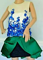 New $16,000 Giambattista Valli HAUTE COUTURE Embellished Dress XS US 4 6  IT 40