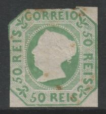 Portugal - 1864 reprint of the 50r Yellow-Green - 0 Margins - M/M - SG 6