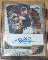2020 Panini Prizm Baseball Mike Brosseau Tampa Bay Rays Rookie Card Auto RC HOT!
