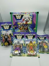LOT 4 WWE Masters Of The Universe Sting Triple H Finn Balor Warrior MOTU & RING