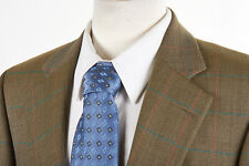 Vintage ANDOVER SHOP Sport Coat 40S in Honey Gold Wool Puppytooth Gun Club Check