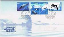 Australian Antarctic Territory 1995 FDC 102-105 - Whales & Dolphins