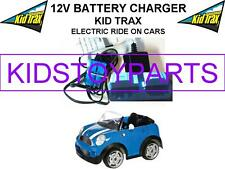12 Volt Battery Charger / KID TRAX MINI COOPER Ride On Toys w/ Blue Connector