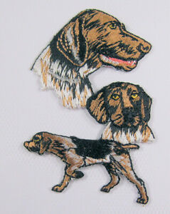 German Shorthaired Pointer heat seal embroidered badge