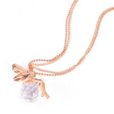 Women Crystal Fairy Angel Wing Pendant Long Chain Sweater Necklace Gift JX