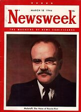 1946 Newsweek March 18-churchill and Truman in Jefferson City MO; Manchuria Rape