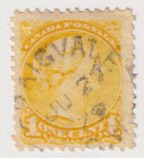 1873-1878 Canada - Queen Victoria - 1 Cent Stamp - Perf. 11 1/2 x 12