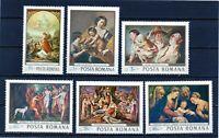 RUMANIA / ROMANIA / ROEMENIE  año 1968  yvert nr. 2408/13  nueva pinturas