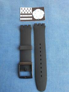 Swatch Bracelet remplacement Noir Silicon Caoutchouc 19 mm 22 mm Chrono Irony