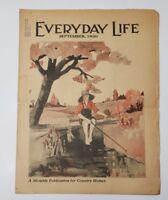 EVERYDAY LIFE MAGAZINE SEPTEMBER 1930 COUNTRY HOME NEWS