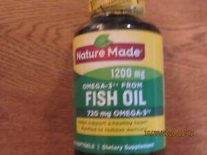 Nature Made Fish Oil 1200mg 720mg Omega-3 (100 softgels) exp.10/22 Free Shipping