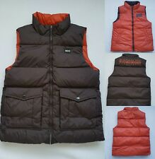 Men's Napapijri reversible down Bodywarmers brown /orange color size M New