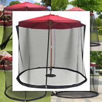 Outdoor 10FT Umbrella Mosquito Net Patio Canopy Screen Mesh Parasol Netting