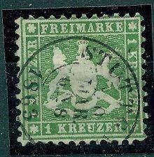 Gestempelte Briefmarken aus dem altdeutschen Württemberg (bis 1945) mit Altsignatur