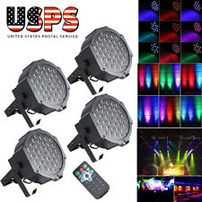 4PCS 36 LED RGB Stage Lighting PAR Light +4 Remote DMX512 Party Disco DJ Lights