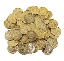 1000 Plastic Gold Play Treasure Coins