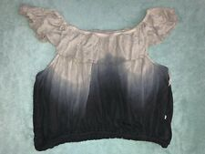 NEW FREE PEOPLE OMBRE OFF SHOULDER TOP SHIRT SMALL S NWT