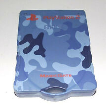 Tabbed Blue Camo Magic Gate PS2 Memory Card Preloved PlayStation 2 8MB
