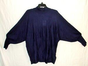 Ralph Lauren Blue Silk Blend Pull-Over Batwing Top Shirt Size 1X ~ New ~ k