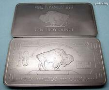 10 oz Titan lingots buffle Titan lingots pièce once onces St Valentin 14.02.18