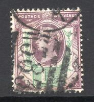 GB = QV 1887 1-1/2d Jubilee stamp, SG198. Used. (02.18.41)