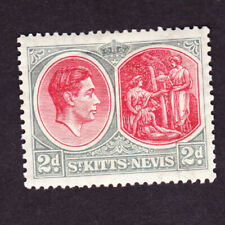 St Kitts nevis GVI 1938 2d, perf 13x12, mm, fine sg71, cat £32