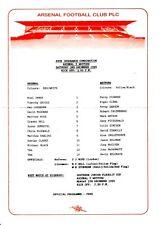 Arsenal v Watford Reserves programme, Football Combination, December 1994