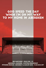ABERDEEN v RANGERS  1/8/2020 OFFICIAL    PROGRAMME. ( NOW  POSTING )