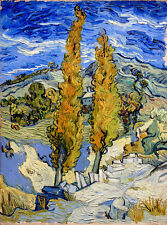 Vincent Van Gogh Two Poplars on a Hill canvas print giclee 16X12 reproduction