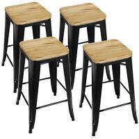 Barstools Set of 4 Counter Height Metal Indoor Outdoor Stackable Industrial 330B