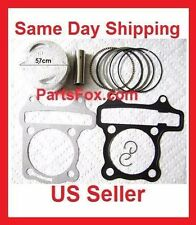 150cc Piston Set Rings 57.4mm Gasket GY6 Engine Scooter Moped Taotao Peace JCL