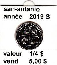 pieces de 1/4 $ san-antonio  2019 S