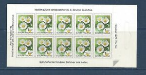 FINLAND - 841 COMP BKLET - S/A - 1995 - FLOWERS - DAISY