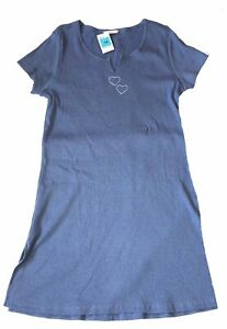 M&S Short Sleeve Night Dress Sleepwear Knee Length Size 14