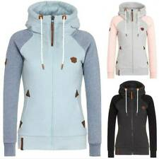 Women's Pocket Zip Up Hoodies Coat Sweatshirt Long Sleeve Jacket Outwear Tops