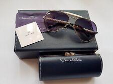 New Linda Farrow x Oscar De La Renta Carved Sunglasses RRP £760.00