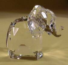 SWAROVSKI CRYSTAL LARGE ELEPHANT METAL TAIL 010015 MINT BOXED RETIRED RARE
